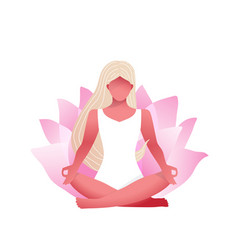 young beautiful woman practice yoga lotus pose in vector image