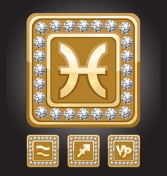 Zodiac signs set - capricorn pisces sagittarius vector