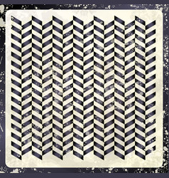 abstract retro pattern in black and white vector image