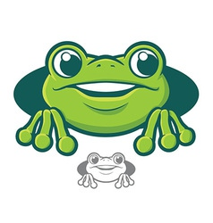 Frog Character Icon vector image vector image