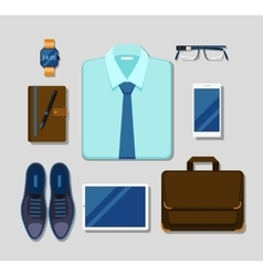 Modern businessman gadgets and accessories outfit vector image vector image