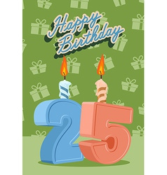 25 years celebration 25nd happy birthday vector image vector image