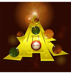 Abstract Christmas tree and baubles background vector image vector image