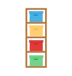 Baby changing table vector image vector image