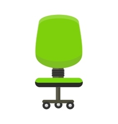 Green Office Chair Icon vector image vector image