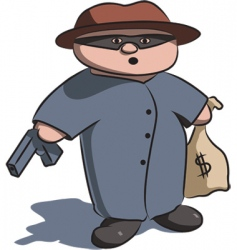 criminal vector image vector image