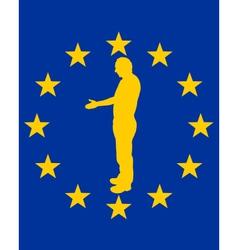 European handshake vector