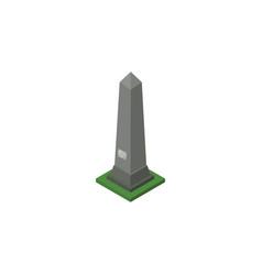 isolated washington monument isometric dc vector image vector image