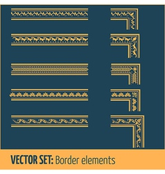 set of border elements and page decoration vector image vector image