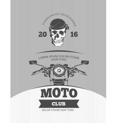 Vintage motorcycle world bikers festival race vector image