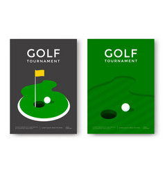 golf poster design vector image