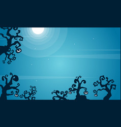halloween scary background style collection vector image