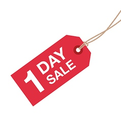 1 day sale sign vector image