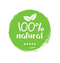 100 natural organic stamp food badge eco nature vector