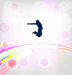 Abstract background with jumping silhouettes eps10 vector image