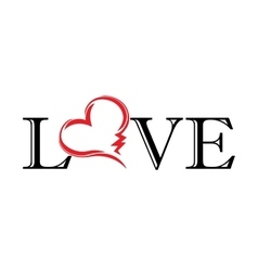 abstract heart love tatoo vector image