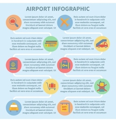 Airport infographic set vector image