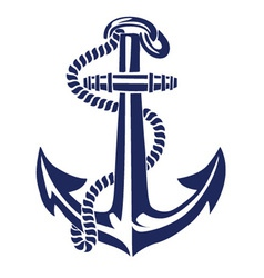 anchor stencil vector image