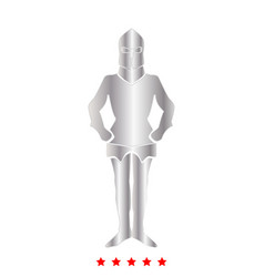 armour icon flat style vector image