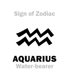 Astrology sign of zodiac aquarius the vector