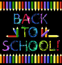back to school black background vector image