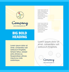 Bacteria plate company brochure title page design vector