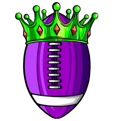 ball with crown design american football super vector image