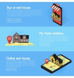 Banners set Real estate online searching vector image