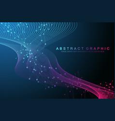 big genomic data visualization dna helix dna vector image