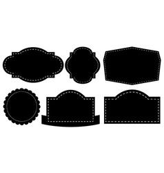 Black labels vector