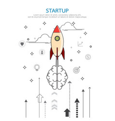 brainstorm rocket idea vector image