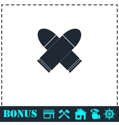Bullet icon flat vector