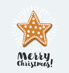 christmas cookies card vector image