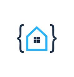 code house logo icon design vector image