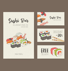 Collection of colorful flyer templates with vector