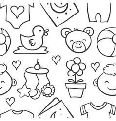 Collection stock of baby design doodles vector