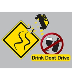 Concept idea Drink dont and drive vector image