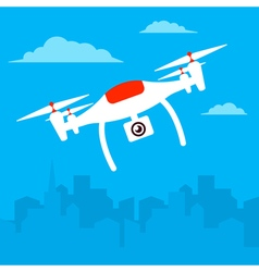 Copter town vector image