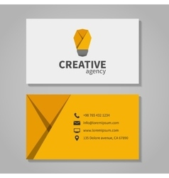 Creative agensy business card template with light vector image