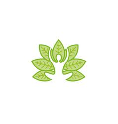 creative body leaf logo vector image