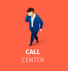 customer support service mobile communication vector image