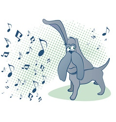 Dog music vector