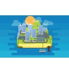 Eco island vector