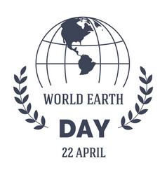 ecology and environment earth day isolated vector image