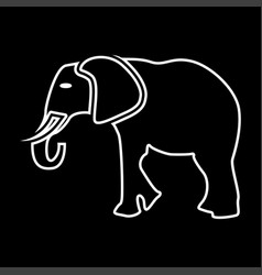 elephant it is icon vector image