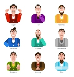 Emotion icons set vector image