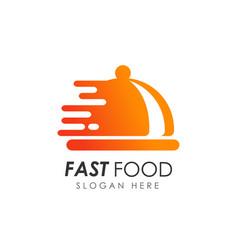 fast food logo design food delivery logo vector image