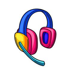 gaming headphones cyber sports vector image