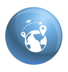 Global refugee migration icon simple style vector