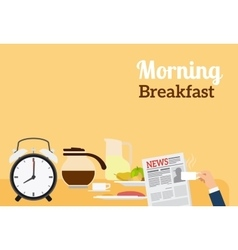 Good Morning Breakfast Banner vector